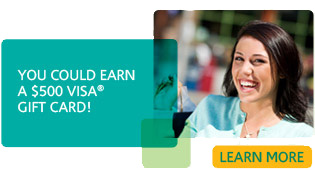Register for $500 VISA Giftcard